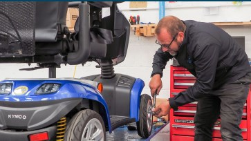mobile scooter servicing