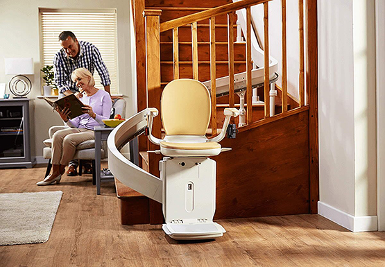 stairlifts installed in client house